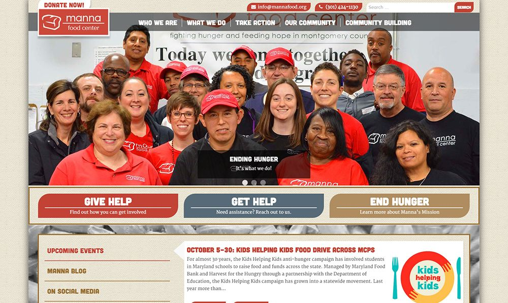 Manna Food Center homepage