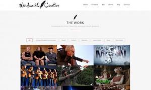 Wurdsmith Creative portfolio page screenshot