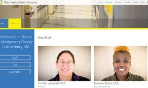 Foundation Schools school page screenshot