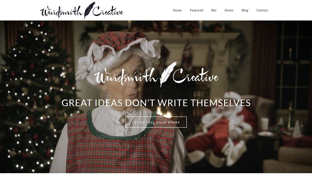 Wurdsmith Creative home page screenshot