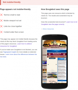 City of Brownsville Mobile Friendly Test