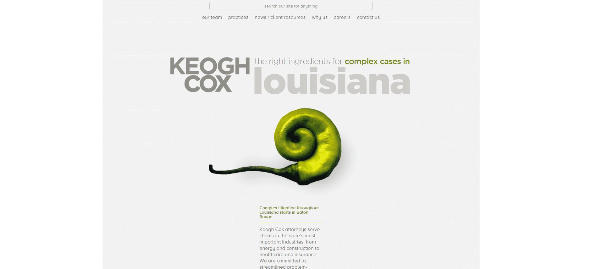 Keogh Cox Webby winning website