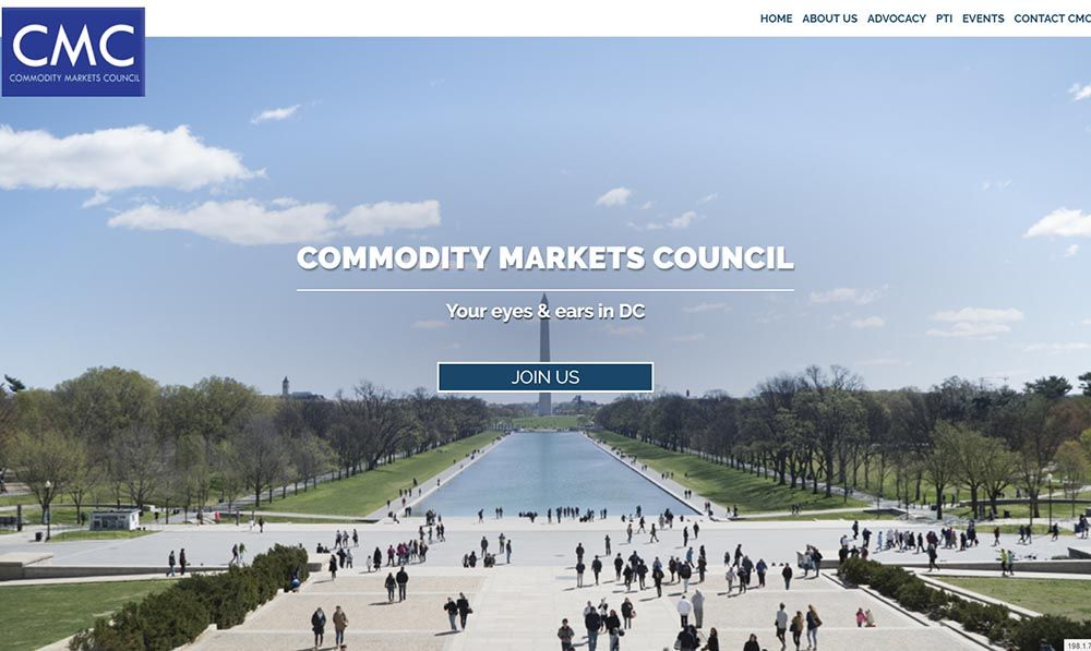 Commodity Markets Council screenshot