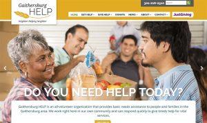 Gaithersburg HELP custom website redesign project